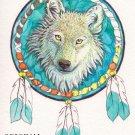 Dreamcatcher Wolf Cross Stitch Pattern Indian ETP