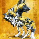Wild Dog Cross Stitch Pattern African Hyena ETP