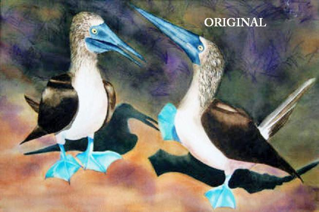 Blue Footed Booby Cross Stitch Pattern Sea Bird ETP