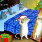 Christmas Mouse in the Mirror Cross Stitch Pattern RTP