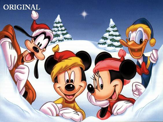 Disney Christmas Cross Stitch Pattern Mickey Minnie Goofy Donald ETP