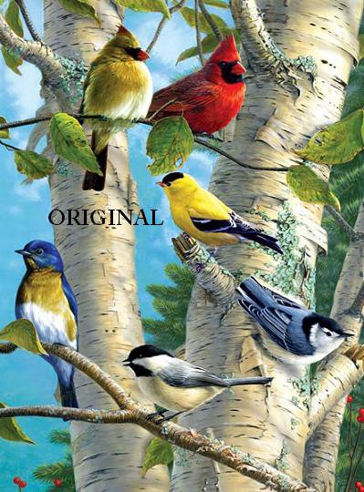 Favorite Songbirds Cross Stitch Pattern Birds ETP
