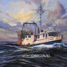 Fishing Trawler Cross Stitch Pattern Ocean Marine ETP