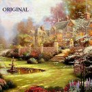 Garden Beyond Spring Gate Cross Stitch Pattern Kinkade ETP