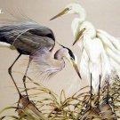 Egrets & Heron Cross Stitch Pattern Marsh Birds ETP
