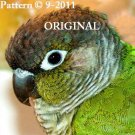 Green Cheek Conure Cross Stitch Pattern Parrots ETP