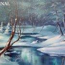 Winter Scene Cross Stitch Pattern Landscape Snow ETP