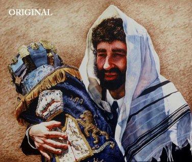 Jewish Rabbi ~ Torah Scroll Cross Stitch Pattern Messianic ETP