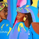 Ladys in Blue Cross Stitch Pattern Black African~ American Culture ETP