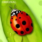 Lady Bug on Leaf Cross Stitch Pattern Insects ETP