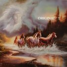 Indian Spirit Horses Cross Stitch Pattern ETP