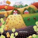 Folk Art Countryside Counted Cross Stitch Pattern ETP