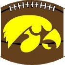 Iowa Hawkeyes #2 Cross Stitch Pattern Football ETP