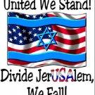 Jerusalem ~USA Flag Cross Stitch Pattern American Israel Jewish Messianic Christian ETP