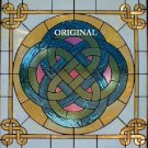Celtic Storyteller Knot Cross Stitch Pattern Stained Glass Look ETP