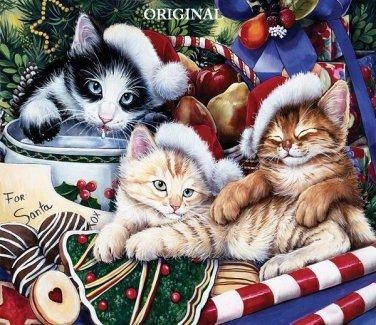 Meowy Christmas Cross Stitch Pattern Cats Santa ETP