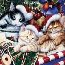 Meowy Christmas Cross Stitch Pattern Cats Santa ETP