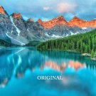 Moraine Lake, Alberta, Canada Cross Stitch Pattern Landscape Land Scape ETP