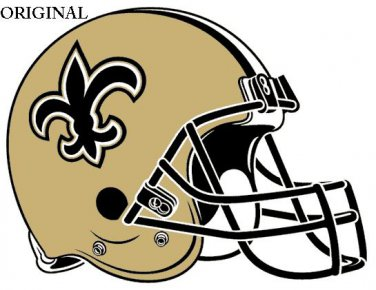New Orleans Saints Helmet Cross Stitch Pattern NFL Football