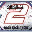 Brad Kesolowski Car #2 Plate... ~Counted~ Cross Stitch Pattern ETP