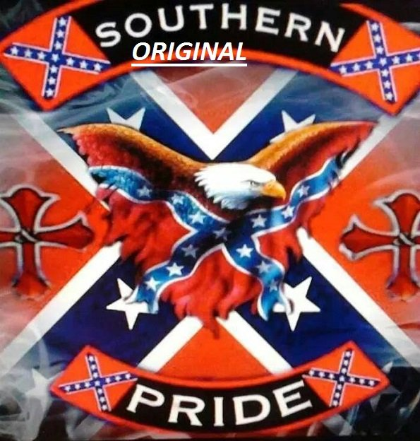 Southern Pride Rebel Flag Confederate Counted Cross