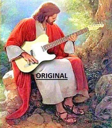 Jesus Playing Guitar... ~Counted~ Cross Stitch Pattern ETP