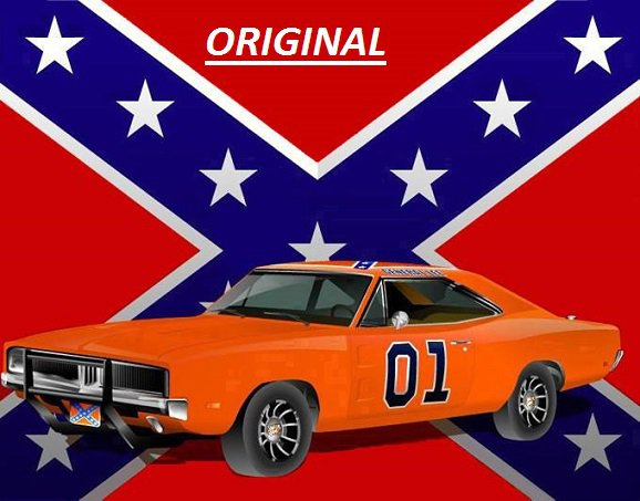 Dukes of Hazzard Rebel Flag & General Lee... ~Counted~ Cross Stitch Pattern ETP