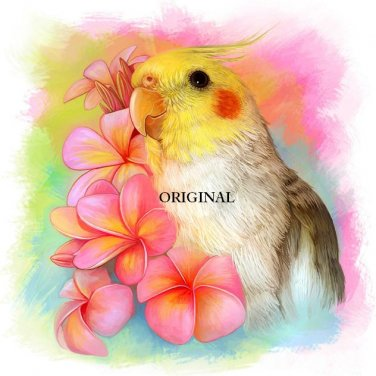 Tropical Cockatiel ~Counted~ Cross Stitch Pattern ETP