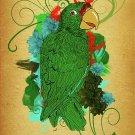 Endangered Puerto Rican Parrot Cross Stitch Pattern