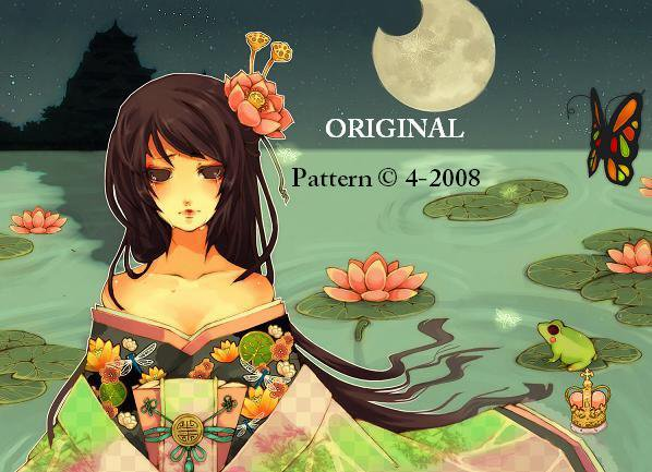 Lotus Blossom Geisha... ~Counted~ Cross Stitch Pattern ETP