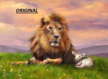 Lion & Lamb... ~Counted~ Cross Stitch Pattern ETP