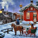 Victorian Winter Train ~ Station... ~Counted~ Cross Stitch Pattern ETP