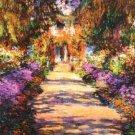 Claude Monet Il Viale Del Giardino... ~Counted~ Cross Stitch Pattern