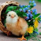 Chick 'N Flower Basket... ~Counted~ Cross Stitch Pattern ETP