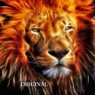 Lion Fire... ~Counted~ Cross Stitch Pattern ~Computer Generated~... ETP