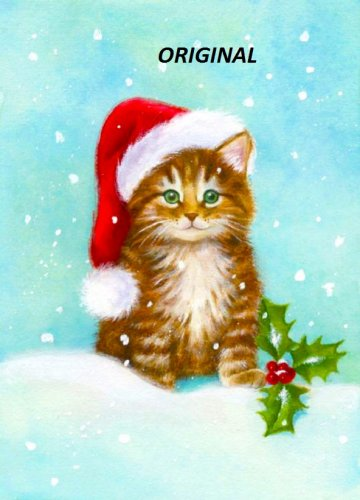 Christmas Kitten... ~Counted~ Cross Stitch Pattern ~Computer Generated~ ETP