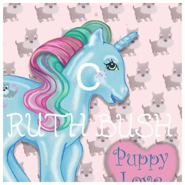 - Puppy Love - Pearlized -Illustration- By Ruth Bush -
