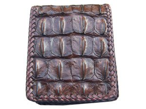 Crocodile Wallet Leather- Genuine Crocodile- Hand Stitched Ships free until 9/30
