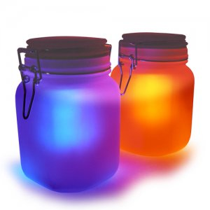 4 set Moon Jar Solar Power LED Mood Light