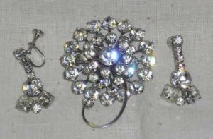 Austrian Crystal Broach and Earings