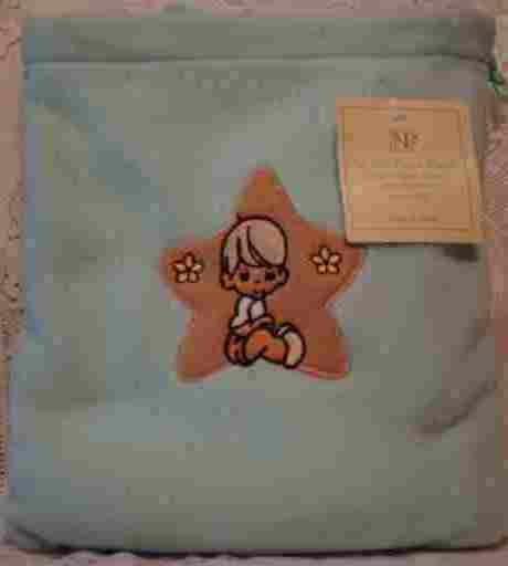 Blue Fleece Baby Blanket with Matching Bag - Boy