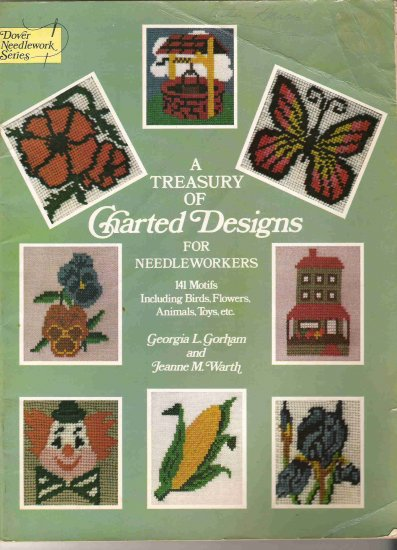 A Treasury of Charted Designs for Needleworkers #2PC