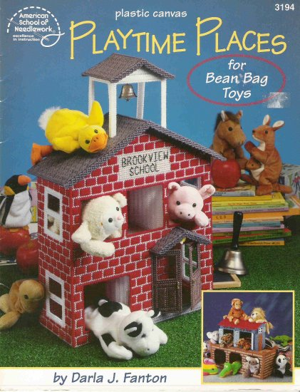 Playtime Places in Plastic Canvas for Bean Bag Toys