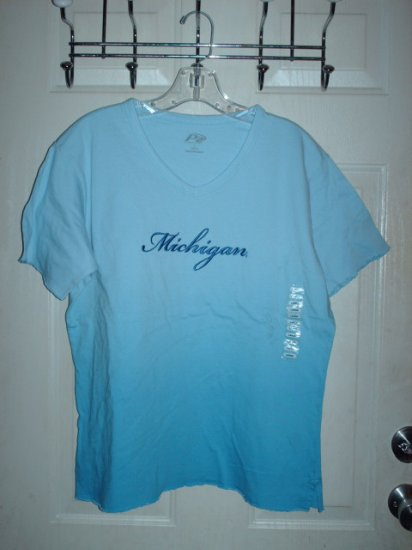 Ladies Michigan Shirt Blue Sz Small