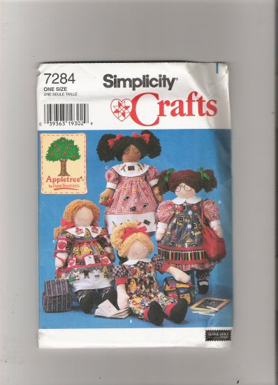 """Simplicity 7284 22"""" Doll and Clothes"""