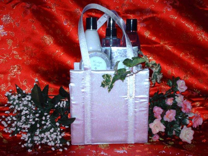 Lovely Lilac Purse - Bath Gift Basket