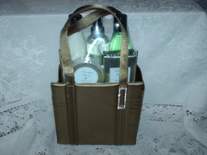 Olive Green Purse - Bath Gift Basket