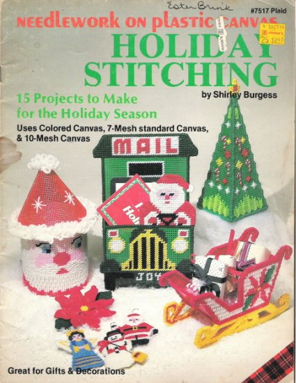 Needlework on Plastic Canvas Holiday Stitching By Shirley Burgess