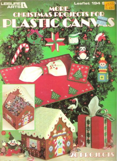More Christmas Projects for Plastic Canvas Leisure Arts Leaflet 194