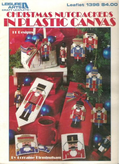 Leisure Arts Christmas Nutcrackers in Plastic Canvas Leaflet 1396